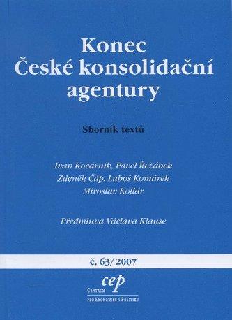 Konec České konsolidační agentury