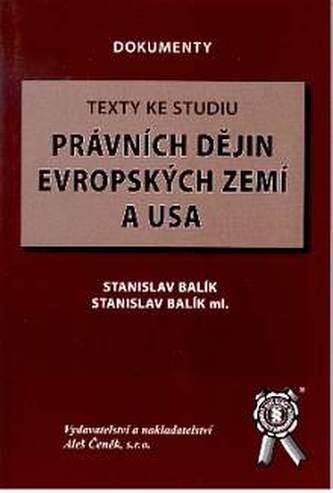Texty ke studiu právních dějin evropských zemí a USA