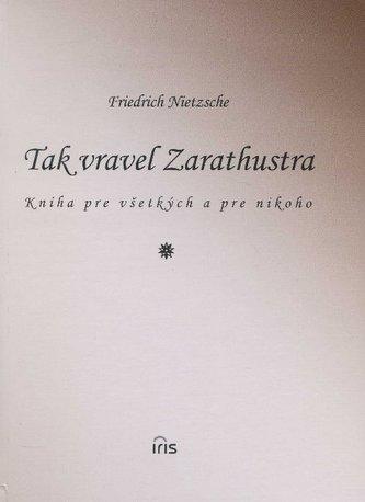 Tak vravel Zarathustra