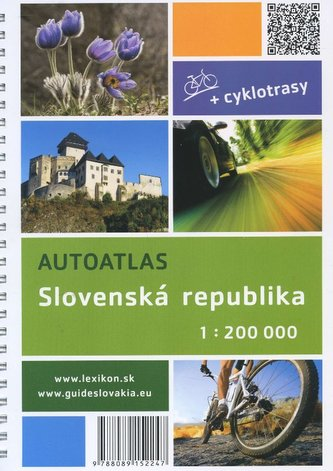 Autoatlas + cyklotrasy Slovenská republika 1:200 000