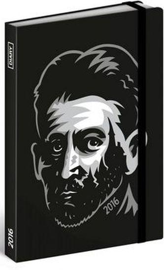 Diář 2016 - Franz Kafka,  10,5 x 15,8 cm