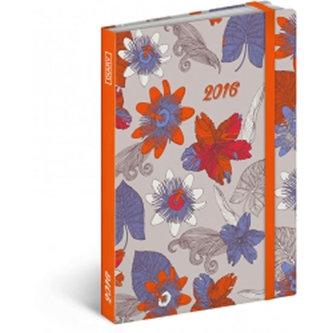 Diář 2016 - Květiny,  10,5 x 15,8 cm