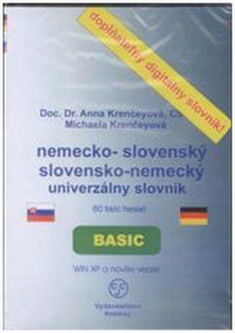 CD-ROM Nemecko-slovenský, slovensko-nemecký univerzálny slovník - Krenčeyová, Anna; Krenčeyová Michaela