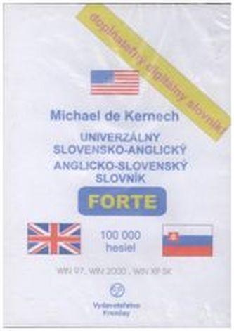 CD-ROM Univerzálny slovensko-anglický anglicko-slovenský slovník FORTE - Kernech, Michael de