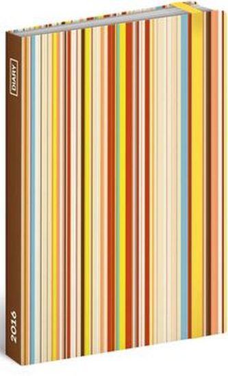 Diář 2016 - Pruhy,  10,5 x 15,8 cm
