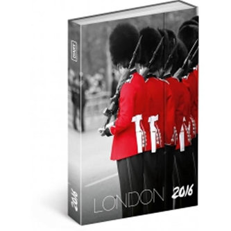 Diář 2016 - Londýn - Jakub Kasl,  10,5 x 15,8 cm
