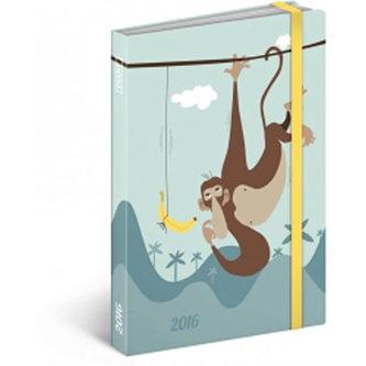 Diář 2016 - Monkey, 10,5 x 15,8 cm