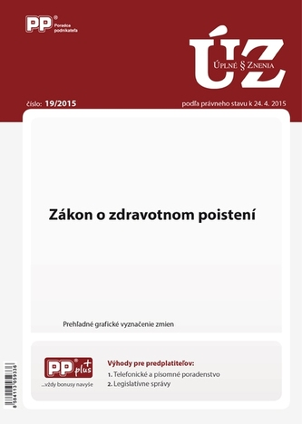 UZZ 19/2015 Zákon o zdravotnom poistení