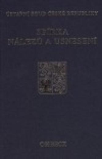 Sbírka nálezů a usnesení ÚS ČR, svazek  31