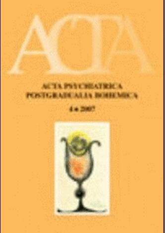 Acta Psychiatrica Postgradualia Bohemica 4/2007