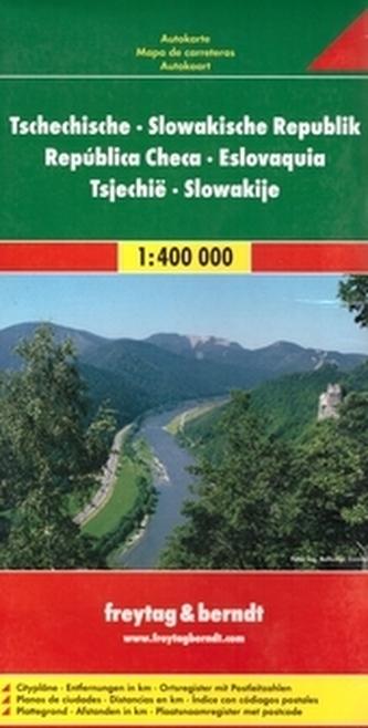 Česká republika, Slovenská republika 1:400 000