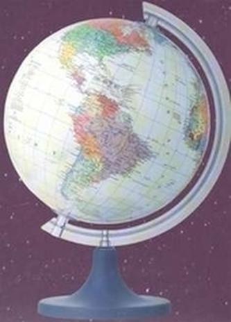 Glóbus 16 cm politický