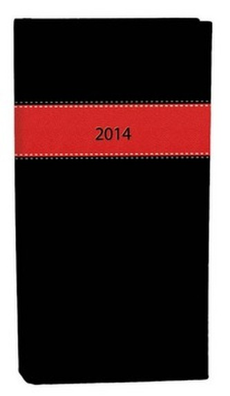 Diář A6 Fénix týdenní červená černá 2014