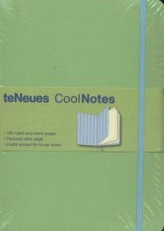 Notes s gumičkou Cool zelenomodrý