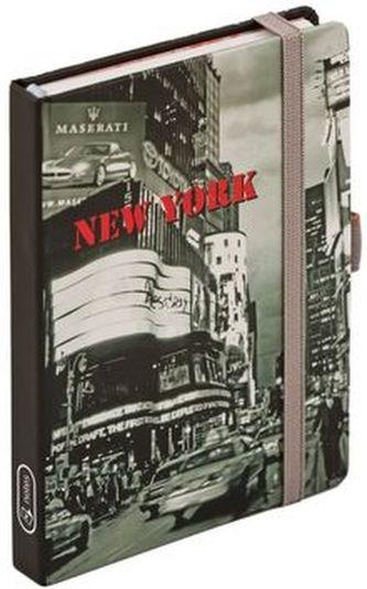 Notes s gumičkou New York