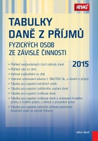 Tabulky daně z příjmů fyzických osob ze závislé činnosti 2015