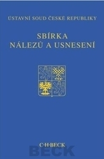 Sbírka nálezů a usnesení ÚS ČR, svazek 60 + CD