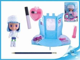 Panenka Cocodels Fannie plast 16cm s pokojíčkem + make-up doplňky v krabičce
