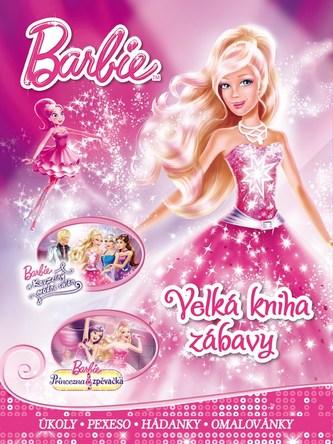 Barbie - Velká kniha zábavy - úkoly, pexeso, hádanky, omalovánky - Mattel