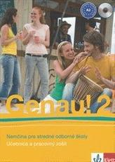 Genau! 2 SK – učebnica s pracovným zošitom + 2CD