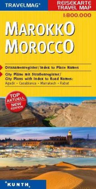 Travelmag KUNTH Reisekarte Marokko 1:800 000