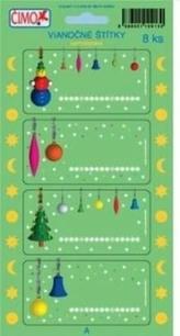Samolepky - vianočné štítky