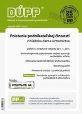 DÚPP 10/2015 Poistenie podnikateľskej činnosti