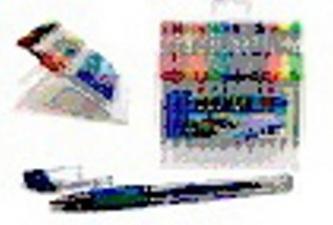 Propiska gelová set 12ks 3xneon 9xglitter PVC box