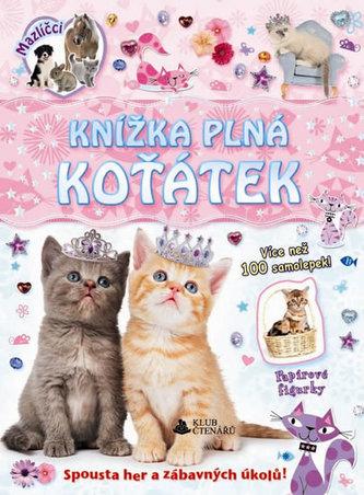 Knížka plná koťátek - samolepky a figurky