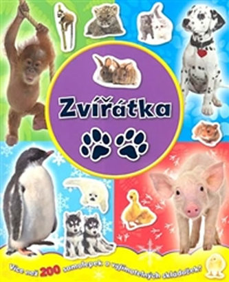 Zvířátka - více než 200 samolepek a výjimatelných skládaček