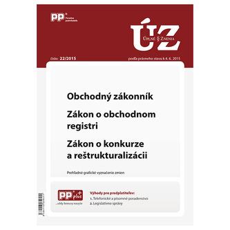 UZZ 22/2015 Obchodný zákonník, Zákon o obchodnom registri, Zákon o konkurze a reštrukturalizácii