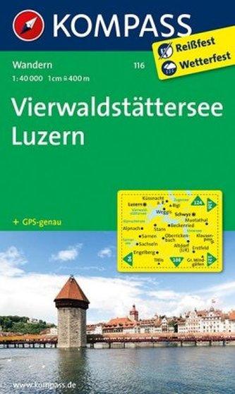 Kompass Karte Vierwaldstätter See, Luzern