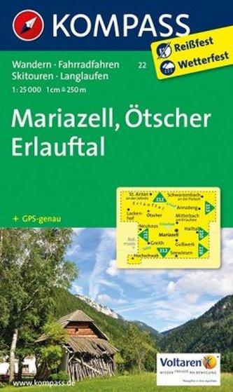 Kompass Karte Mariazell, Ötscher, Erlauftal