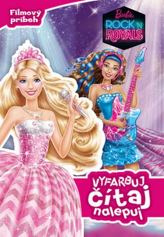 Barbie Rock ´n Royals Vyfarbuj, čítaj, nalepuj