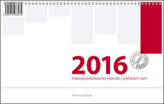 Podnikatelský červený - stolní kalendář 2016