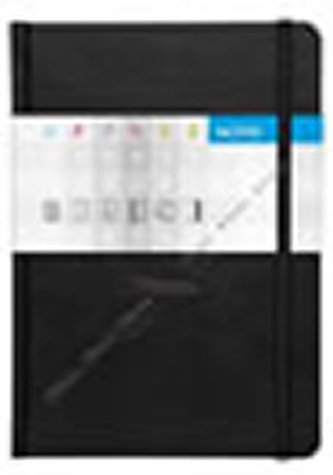 Notes Saturn černý linkovaný A5