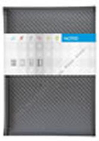 Notes Carbon stříbrný čtverečkovaný A5
