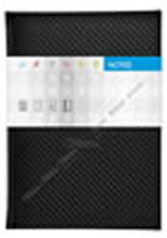 Notes Carbon černý čtverečkovaný A5