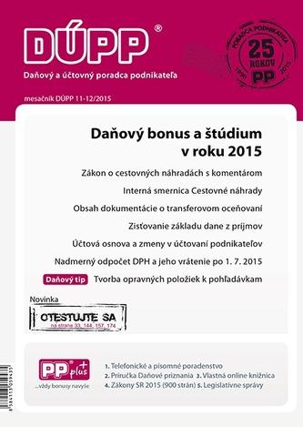 DUPP 11-12/2015 Daňový bonus a štúdium v roku 2015