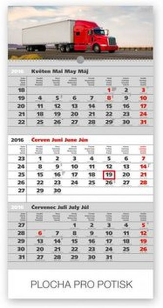 Truck šedý 3měsíční - nástěnný kalendář 2016