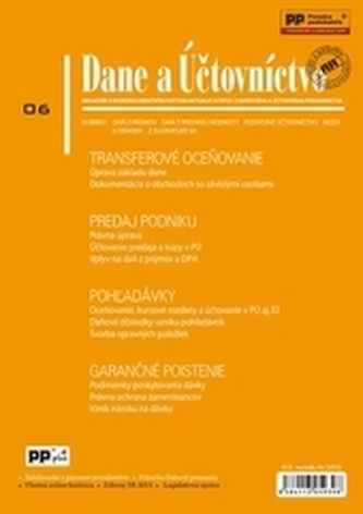 Dane a účtovníctvo 6/2015