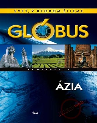 Glóbus-Ázia kontinenty