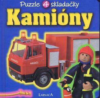 Kamióny - puzzle 4 skladačky