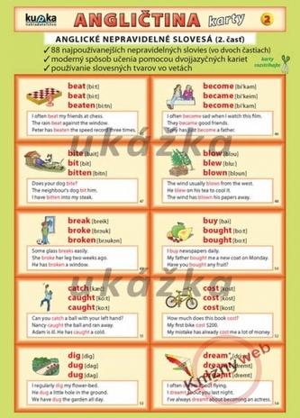 Angličtina karty 2 - nepravidelné slovesá - Kupka a kol. Petr