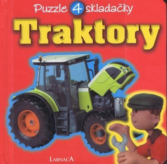Traktory - puzzle 4 skladačky