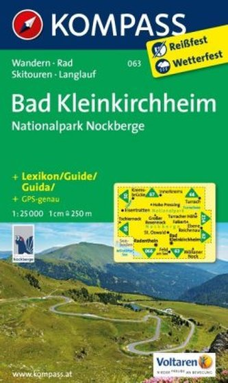 Kompass Karte Bad Kleinkirchheim, Nationalpark Nockberge