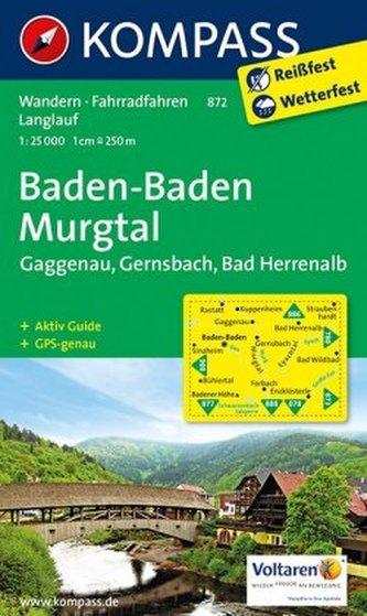 Kompass Karte Baden-Baden, Murgtal