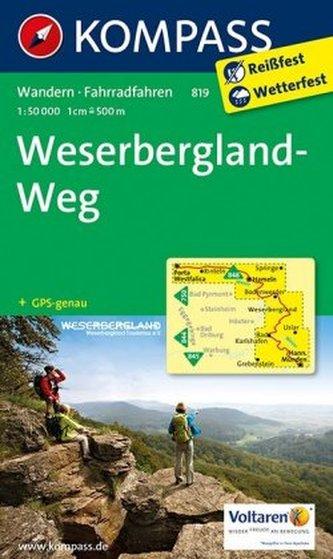 Kompass Karte Weserbergland-Weg