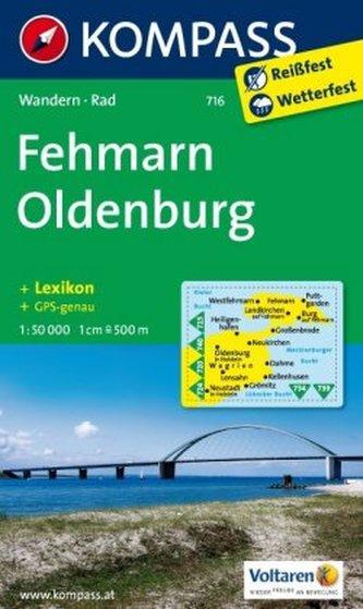 Kompass Karte Fehmarn, Oldenburg
