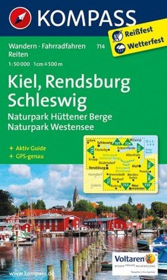Kompass Karte Kiel, Rendsburg, Schleswig